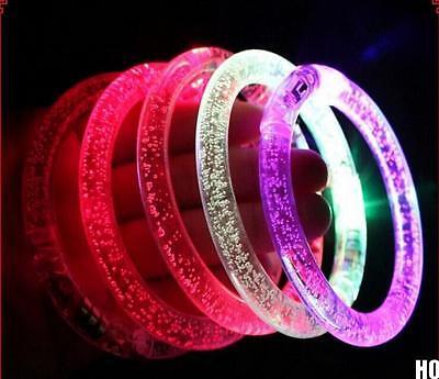 HO AU Blinking LED Flash Bracelet  Colorflu Color Changing Party Club Stage