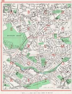 Efficient Hounslow Hounslow Heath Whitton Fulwell Kneller Hall 1964 Old Vintage Map Delaying Senility Europe Maps