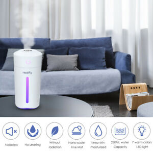 Electric Air Humidifier Purifier Mist Aroma Oil Diffuser Relaxing USB LED Light