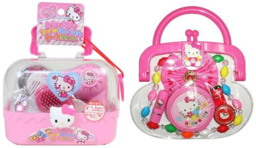 2 Hello Kitty Beauty Sets Pink Styling Case with Accessories and Purse Sets