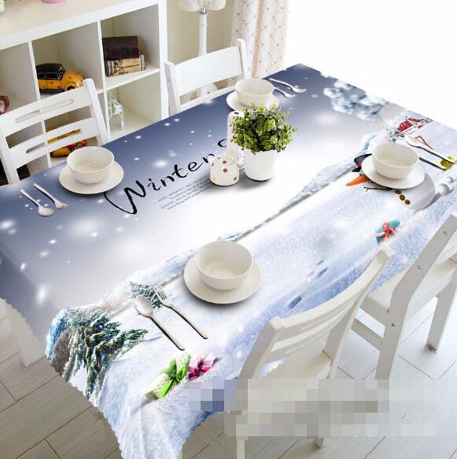 3D Neige Sky 65 Nappe Table Cover Cloth fête d'anniversaire AJ papier peint Royaume-Uni Citron