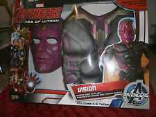 MARVEL AVENGERS  AGE OF ULTRON VISION COSTUME MUSCLE CHEST SHIRT SET SIZE 4-6