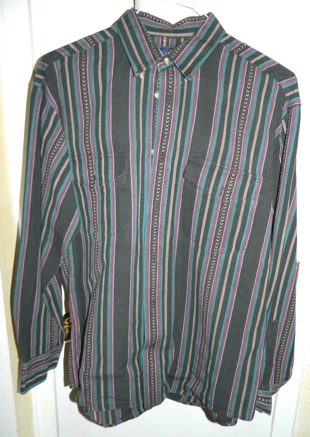 WRANGLER X-Long Tails Cowboy Southwestern Style Button Men's Shirt 16 1 2 - 36
