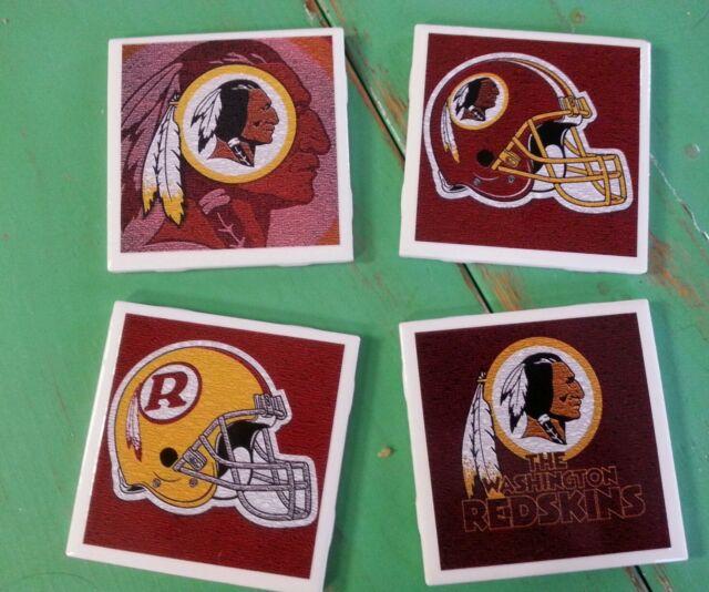 Washington redskins ceramic coasters (set of 4)