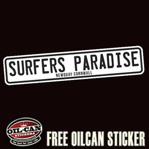 surfers-paradise-newquay-cornwall-bumper-sticker-180mm-wide-surf-surfing