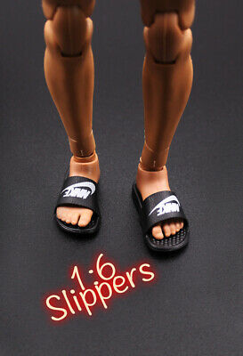 """1//6 Scale Nike Slides Sandals Slippers Shoes For 12/"""" Hot Toys Phicen Figure❶USA❶"""