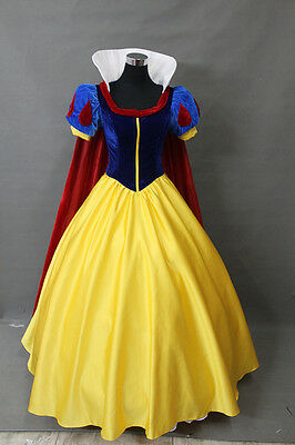 New Adult Princess Snow white Costume Ladies Fairytale Party Dress Wholesale