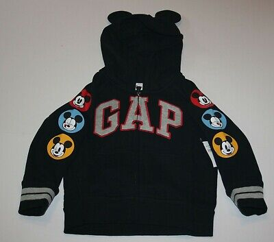 New Baby Gap Boys Mickey Mouse Sweatshirt Top 4T Disney baby Mouse Ears Hoodie