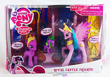 NEW My Little Pony Royal Castle Friends Princess Celestia Twilight Spike 2011
