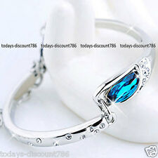 Sapphire Blue Bracelet Crystal Love Xmas Birthday NEW Gifts For Her Women Mother