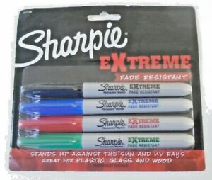 Sharpie  Extreme  Assorted  Fine Tip  Permanent Marker  4 pk
