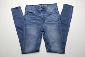 American-Eagle-Womens-Blue-Jeans-Size-6-Long-Hi-Rise-Legging-Super-Super-Stretch