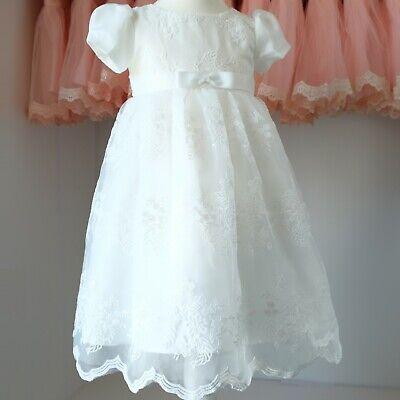 Bolero Festkleid Babykleid Tüll Blumenmädchen klassisches langes Taufkleid
