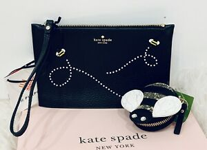 NWT-Kate-Spade-Embellished-Flying-Bee-039-s-Wristlet-Wallet-Queen-Bee-Coin-Purse