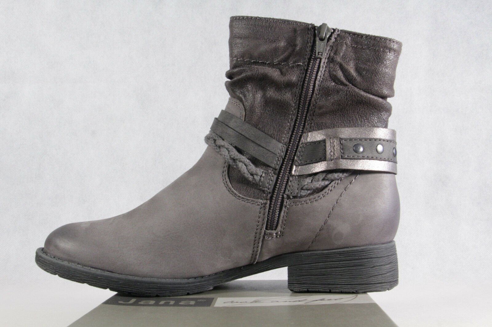 wholesale dealer 14815 56198 Jana Winter Boots Lace up Boots Boots Boots Boots Grey Real ...