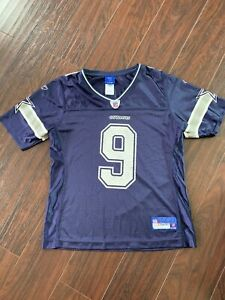RARE-NEW-STITCHED-Tony-Romo-9-Reebok-On-Field-Dallas-Cowboys-Jersey-Youth-M