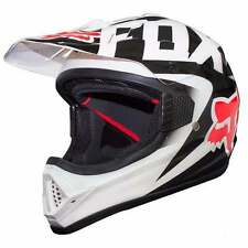 FOX RACING DOT APPROVED MOTOCROSS OFFROAD VF1 HELMET  - MEDIUM - WHITE