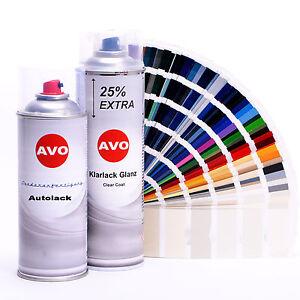 Autolack Lackspray Set für Mazda 25B Blue Pacific metallic Spraydose AVO A0010