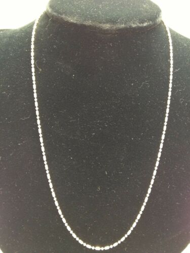 """18/"""" inch .925 Sterling Silver Ball Bar Round Chain 0.6 mm Italy"""