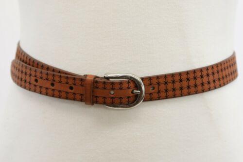 NWT$645 Brunello Cucinelli Mens 100/% Leather Pattern Design Belt Sz 95//34US A191