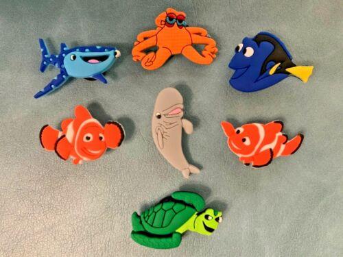 7 x FINDING NEMO Jibbitz Shoe Charm made for Crocs /& Wristbands,