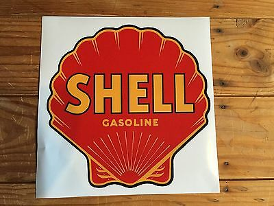 Early style Shell Gasoline self-adhesive vinyl decal for petrol bowser