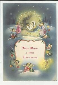Cartoline Buon Natale E Felice Anno Nuovo.Cartolina Buon Natale E Felice Anno Nuovo La Nativita Ebay