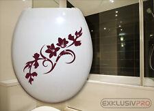WC Deckel Toiletten Aufkleber Swarovski Strass Tattoo Blumen Ranke Bad Dusche 20