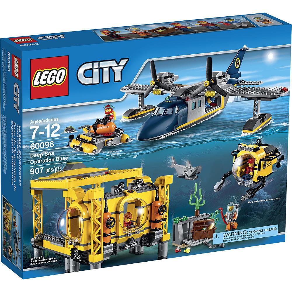 Lego City DEEP SEA Opération base 60096 Building Set 907 Pièce AVION SOUS-MARIN