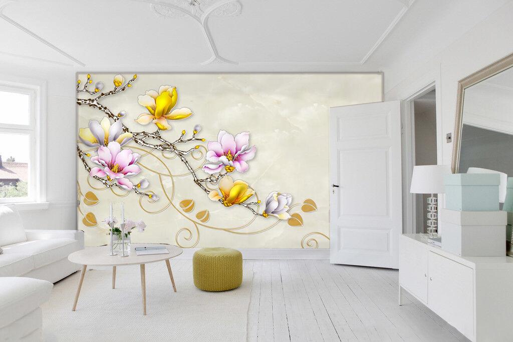 3D Arbre D'or 0293 Photo Papier Peint en Autocollant Murale Plafond Chambre Art