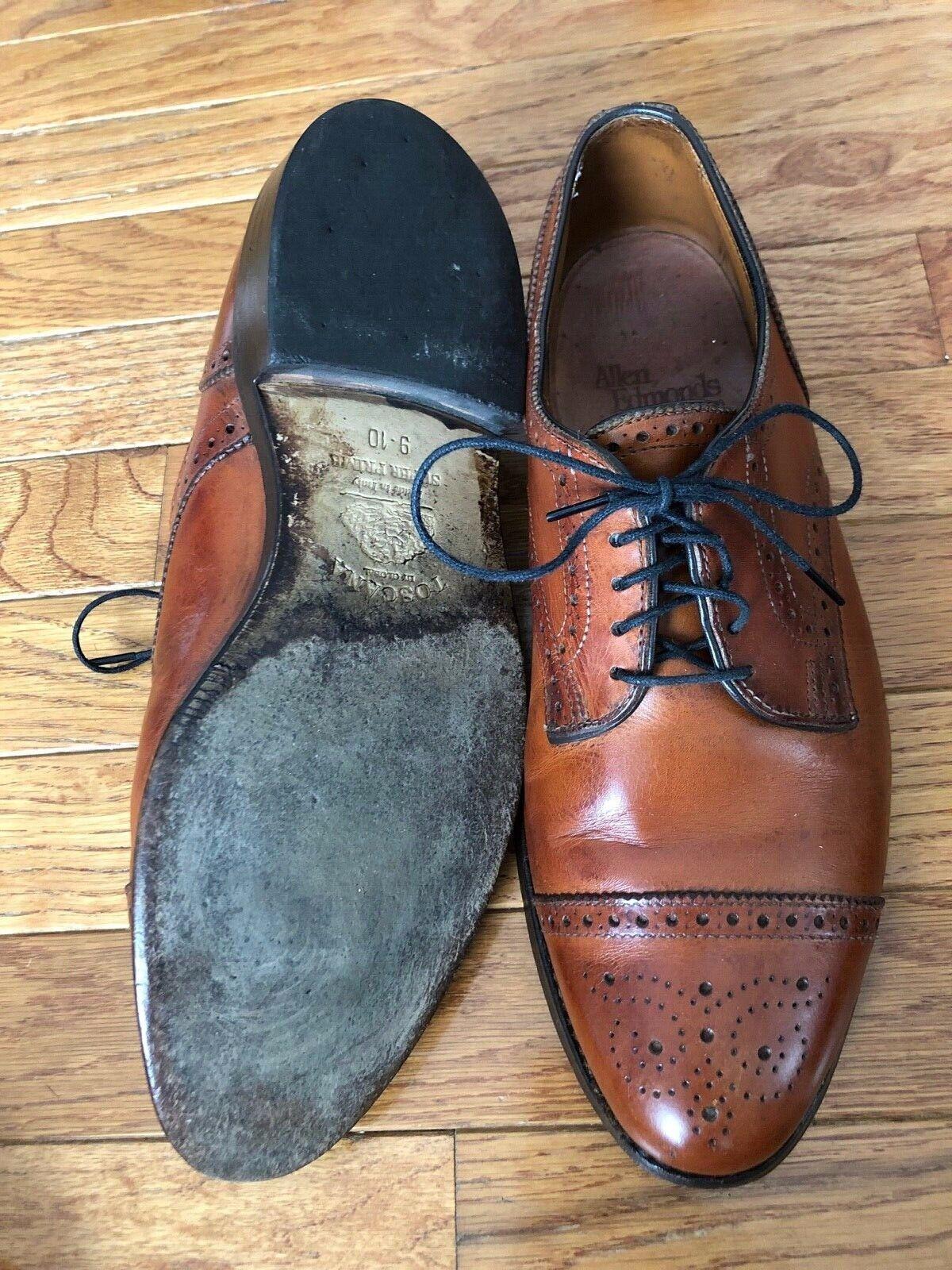 Allen Edmonds Sanford Chestnut Brown Mens Shoe 8 … - image 7