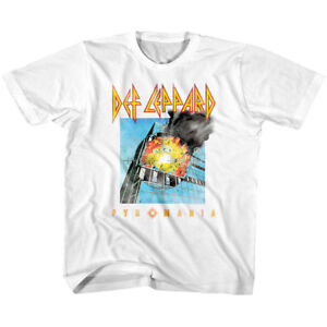 AgréAble Def Leppard Pyromania Album Kids T Shirt Vintage Faded Boys Girls Baby Youth