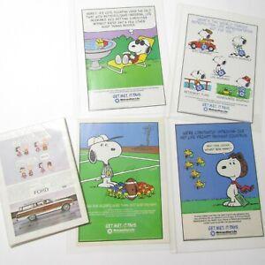Lot-of-Vintage-Metlife-Snoopy-Advertisements-Ads-Peanuts-Schulz-Charlie-Brown