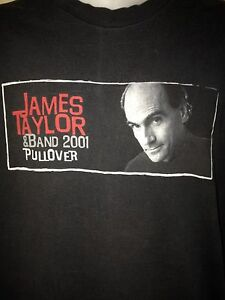 VINTAGE-JAMES-TAYLOR-PULLOVER-TOUR-2001-XL-T-SHIRT-VTG-ROCK-OUT-OF-PRINT