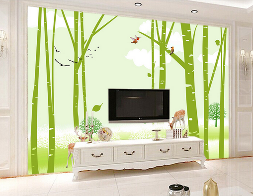 3D Grün Plant 5056 Wallpaper Murals Wall Print Wallpaper Mural AJ WALL UK Kyra