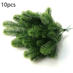 10Pcs-Artificial-Flower-Fake-Plants-Pine-Branches-Christmas-Xmas-Tree-Home-Decor