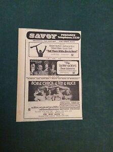 G1-1-Ephemera-1971-picture-advert-savoy-penzance-bob-carol-ted-alice