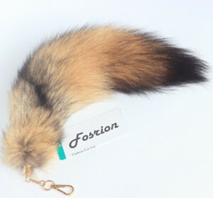 Image Is Loading Y Fasihon Authentic Coyote Fox Wolf Tail Fur