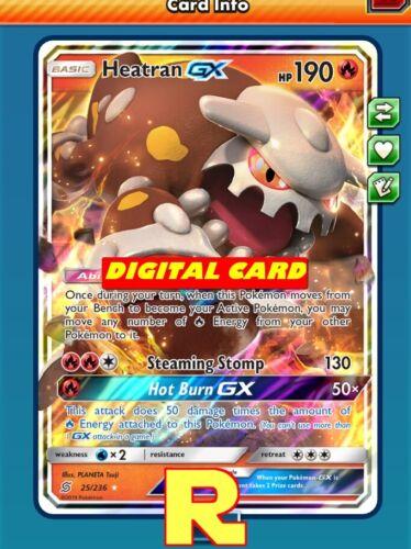 Heatran GX For Pokemon TCG Online Digital Ptcgo IN Game Card Regular