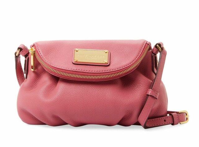 3e53ac351de9 New Marc Jacobs Classic Mini Natasha Leather Crossbody Bag DUSTY ROSE PINK   300+