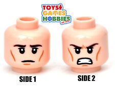 *NEW* LEGO Minifigure Minifig Head Stern Angry Tan Light Nougat Heroes #1766