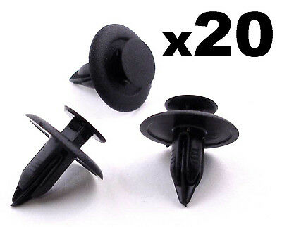 20x Mazda 6mm Interior Trim Fastener Clips for Trim Panels, Fascias & Linings