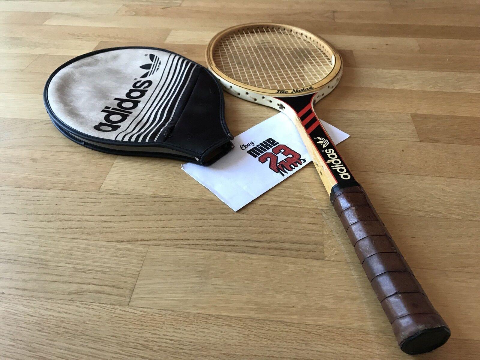Raquette de tennis en bois Vintage Adidas Ilie Nastase de 1970 Yeezy Nmd Boost