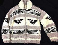 Vintage 70's LL BEAN XL Cowichan Full Zip Shawl Collar Sweater BIG LEBOWSKY DUDE