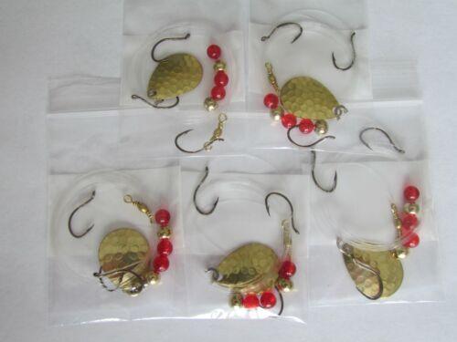 5 Spinner Walleye Spinner Rig 3 Hook Harness