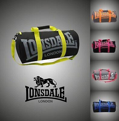Nuova Marca Lonsdale Barrel Bag Zainetto Palestra Travel Bags W52 X H26 X D26cm-mostra Il Titolo Originale