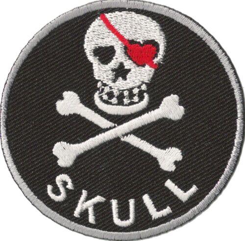 Patche écusson transfert Skull patch pirate brodé hotfix thermocollant