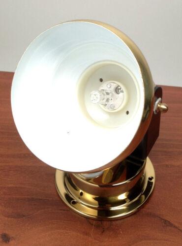 LACQUERED BRASS ACCENT INTERIOR LIGHT MARINE BOAT HALOGEN LIGHT