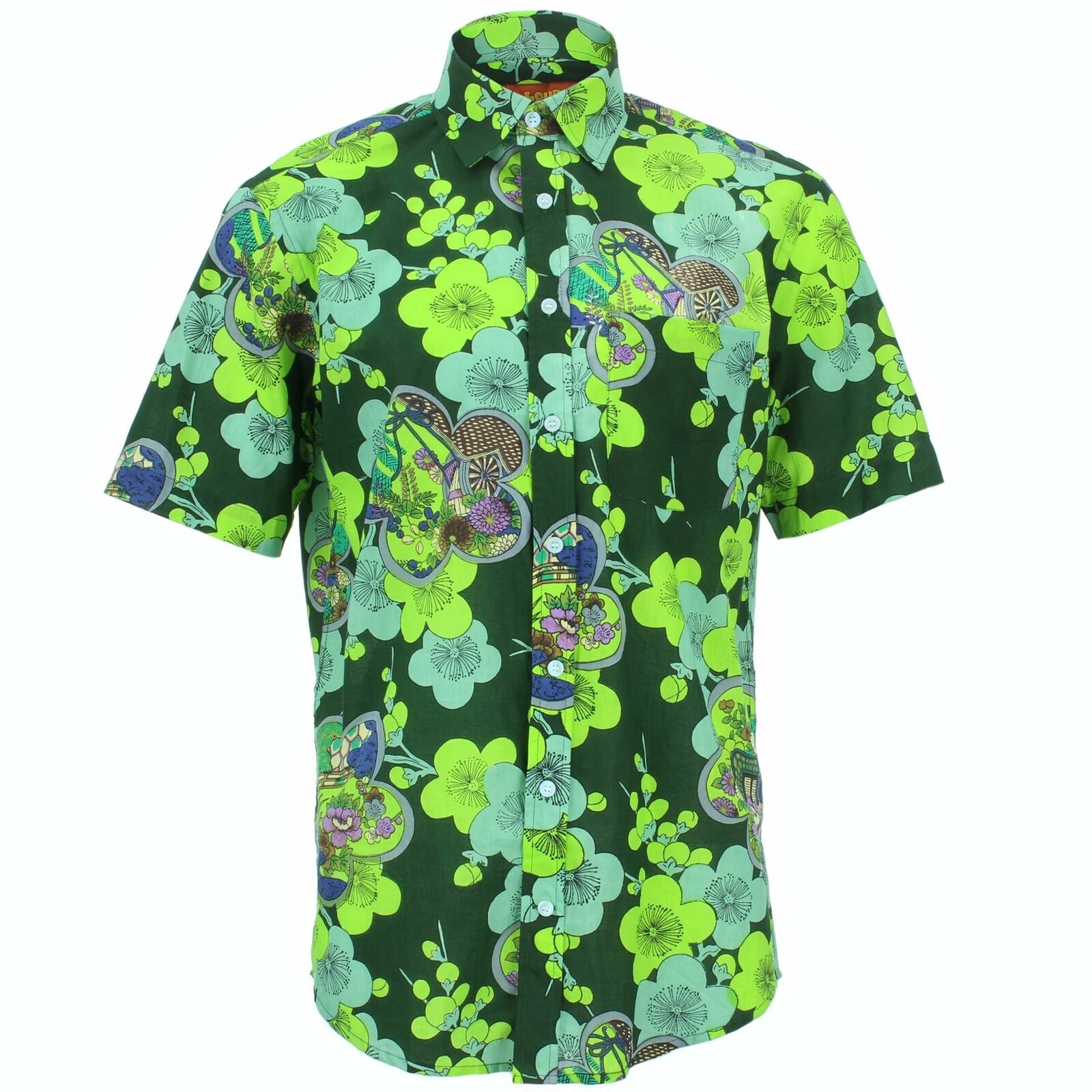 Mens Shirt Loud Originals REGULAR FIT Abstract Grün Retro Psychedelic Fancy  | Abrechnungspreis  | Online einkaufen  | Erste Klasse in seiner Klasse