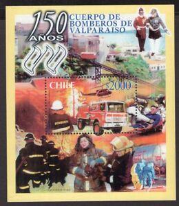 CHILE-2001-STAMP-SS-83-MNH-VALPARAISO-FIREMEN